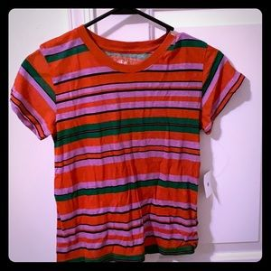 Urban Outfitters Striped Cropped T